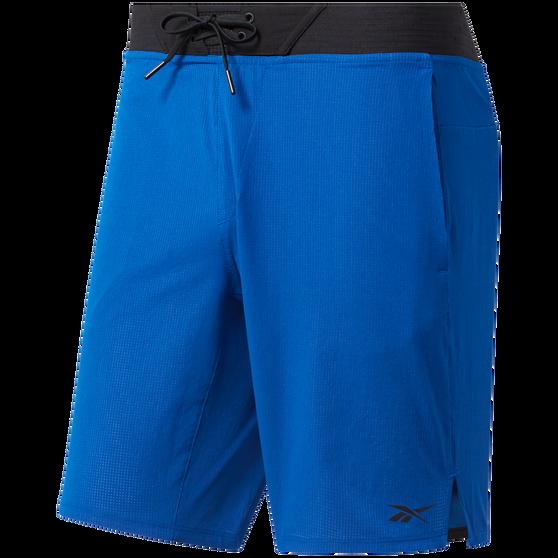 Reebok Mens Epic Shorts Blue M, Blue, rebel_hi-res