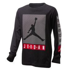 Nike Boys Jordan Jumpman Blindside Long Sleeve Tee, Black/White, rebel_hi-res