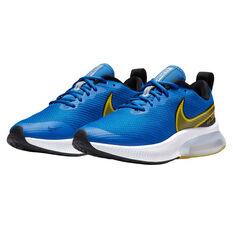 Nike Zoom Arcadia Kids Running Shoes, Blue/Yellow, rebel_hi-res