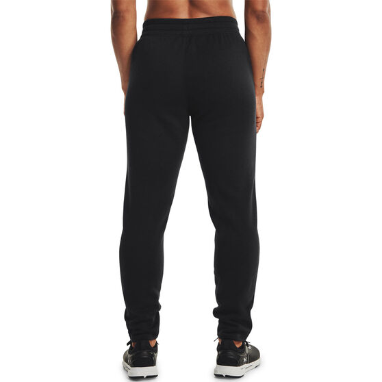 Under Armour Womens Rival Fleece Gradient Pants, Black, rebel_hi-res
