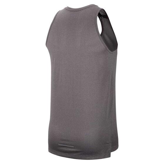 Nike Mens Dri-FIT Cool Miler Tank, Grey, rebel_hi-res