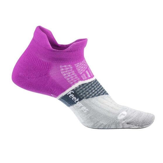 Feetures Elite Cushion No Show Tab Socks, Purple, rebel_hi-res