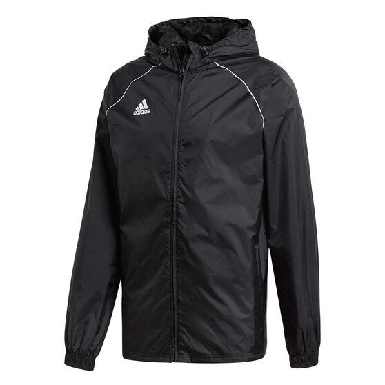 beb23d43d adidas Mens Core 18 Rain Jacket Black / White M, Black / White, rebel_hi
