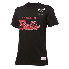 Mitchell & Ness Mens Bulls Special Script Tee Black S, Black, rebel_hi-res