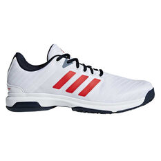 adidas Barricade Court Mens Tennis Shoes Navy / White US 7, Navy / White, rebel_hi-res