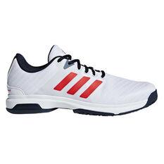 adidas Barricade Court Mens Tennis Shoes Navy / White US 7, Navy / White, rebel_hi-res