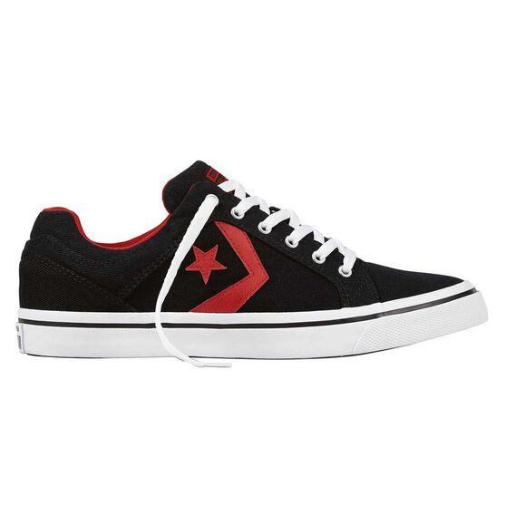 Converse Cons El Distro Mens Casual Shoes, Black / Red, rebel_hi-res