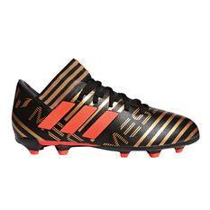 adidas Nemeziz Messi 17.3 Junior Football Boots Black / Red US 11 Junior, Black / Red, rebel_hi-res
