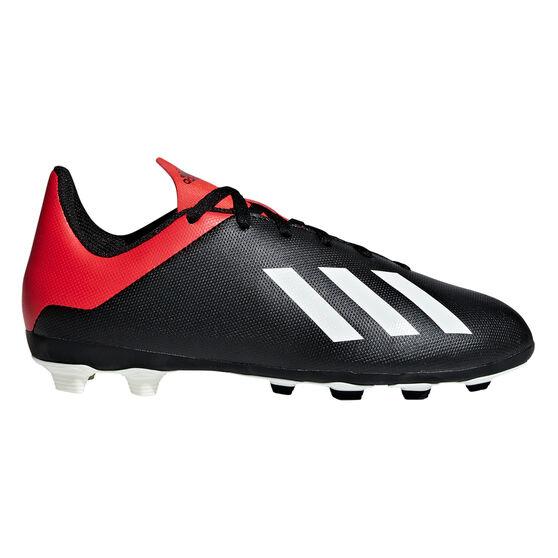 adidas X 18.4 FXG Kids Football Boots, Black / White, rebel_hi-res