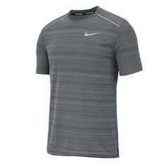 Nike Mens Dri-FIT Miler Running Tee, Grey, rebel_hi-res
