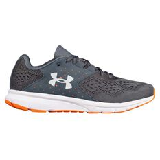 Under Armour Charged Rebel Mens Running Shoes Grey / Orange US 7, Grey / Orange, rebel_hi-res