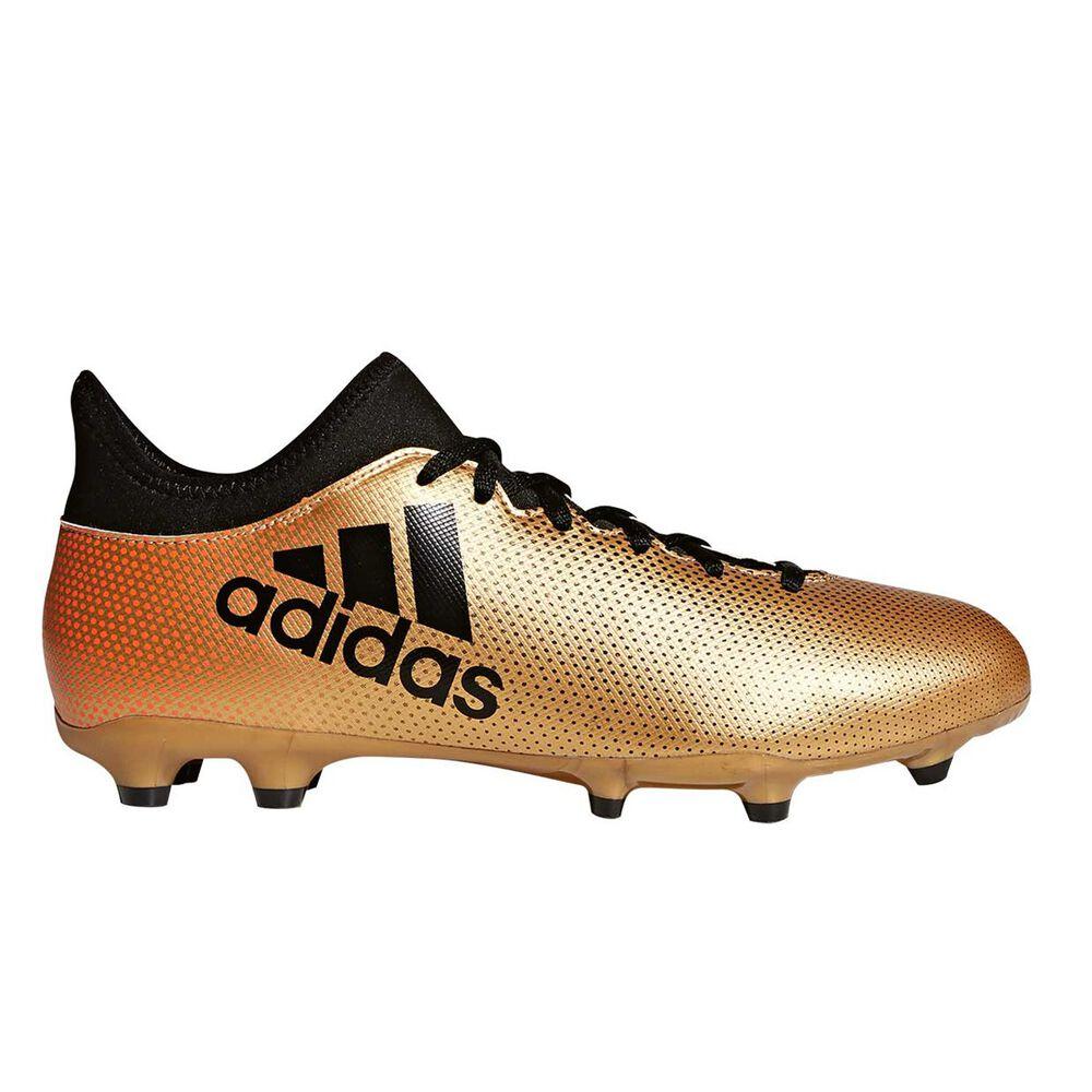 adidas X 17.3 Mens Football Boots Gold   Black US 7 Adult  3c922af5861f