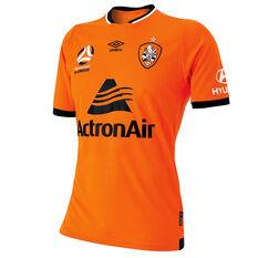 Brisbane Roar 2018 / 19 Mens Home Jersey Orange / Black S, Orange / Black, rebel_hi-res