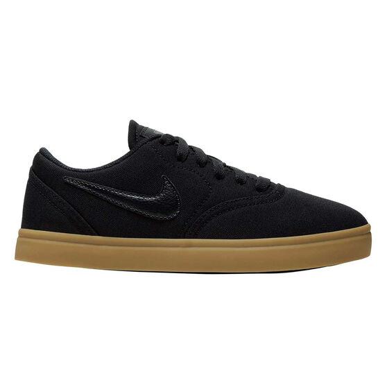 Nike SB Check Canvas Kids Skateboarding Shoes US 5 Black / Gum, , rebel_hi-res