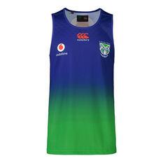 New Zealand Warriors 2021 Mens Training Singlet Blue S, Blue, rebel_hi-res