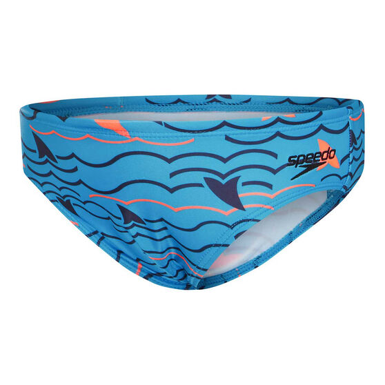 Speedo Boys Leisure Noah Swim Briefs, Blue, rebel_hi-res