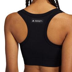 adidas Womens Studio Sports Bra, Black, rebel_hi-res
