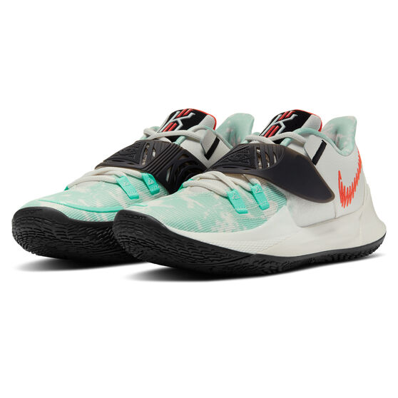 Nike Kyrie Low 3 Mens Basketball Shoes, White/Teal, rebel_hi-res