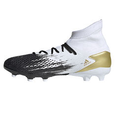 adidas Predator 20.3 Football Boots White/Gold US Mens 7 / Womens 8, White/Gold, rebel_hi-res