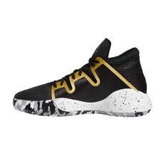 adidas Pro Vision Select Kids Basketball Shoes Black / White US 4, Black / White, rebel_hi-res