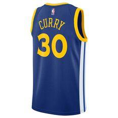 Nike Golden State Warriors Stephen Curry 2019 Mens Swingman Jersey Rush Blue XL, Rush Blue, rebel_hi-res
