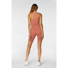 L'urv Womens Aura Seamless Shorts, Pink, rebel_hi-res