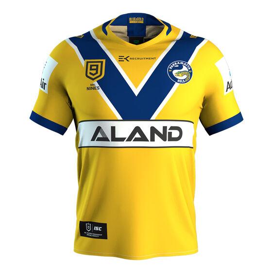 Parramatta Eels Nines 2020 Mens Jersey Yellow M, Yellow, rebel_hi-res