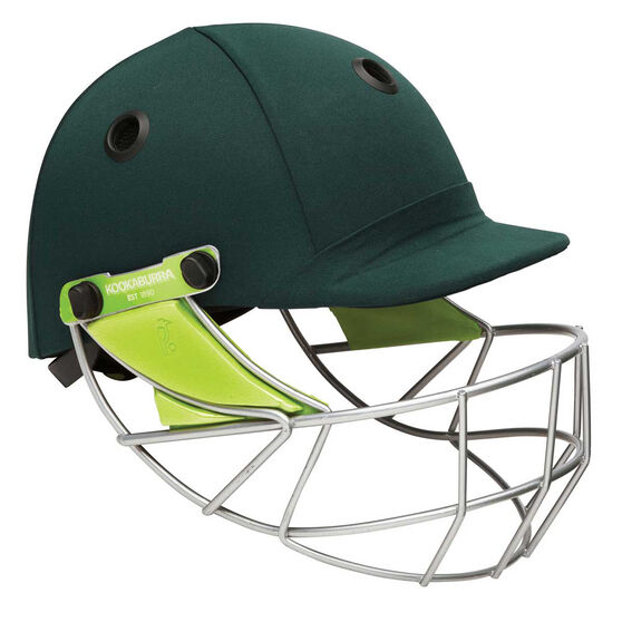 Kookaburra Pro 600 Cricket Helmet, Green, rebel_hi-res