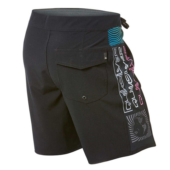 Quiksilver Mens Arch Rave Board Shorts, Black, rebel_hi-res