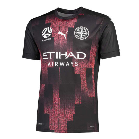 Melbourne City FC 2020/21 Mens Away Jersey, Black, rebel_hi-res