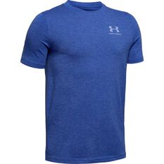 Under Armour Boys Tee Royal Blue / White XS, Royal Blue / White, rebel_hi-res