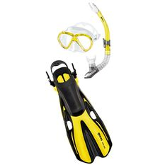 Mares Marlin Volo Snorkel Set Yellow S / M, Yellow, rebel_hi-res