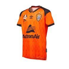 Brisbane Roar FC 2020/21 Junior Home Jersey Orange 8, Orange, rebel_hi-res