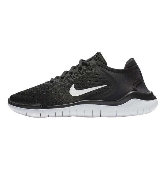 Nike Free RN 2018 Kids Running Shoes, Black / White, rebel_hi-res