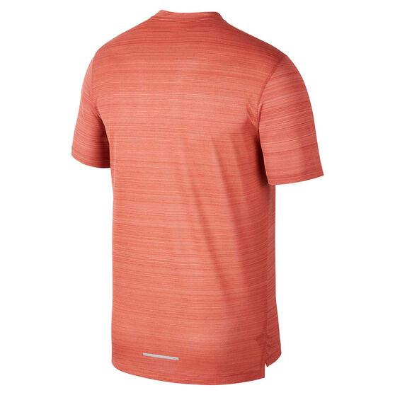 Nike Mens Dri-FIT Miler Running Tee, Red, rebel_hi-res