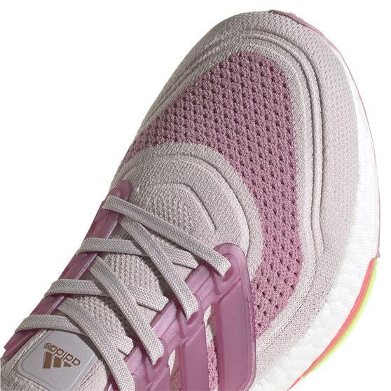 adidas Ultraboost 21 Womens Running Shoes, Purple/White, rebel_hi-res