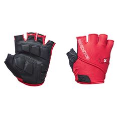 Goldcross Fingerless Gel Gloves Red XS, Red, rebel_hi-res