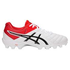 Asics GEL Lethal 18 Mens Football Boots White / Black US Mens 7 / Womens 8.5, White / Black, rebel_hi-res