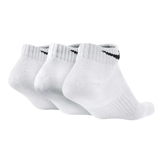 Nike Mens Cushion Low Cut 3 Pack Socks, White, rebel_hi-res