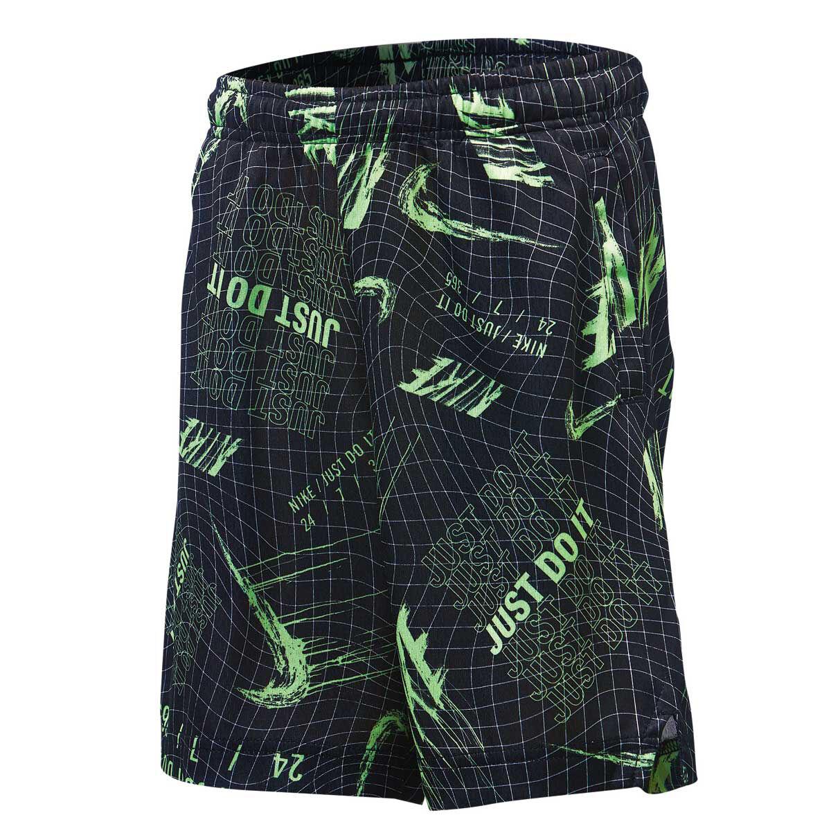 1556f2624421c9 Nike boys all over print drifit basketball shorts black green black green  jpg 233x233 Pink green