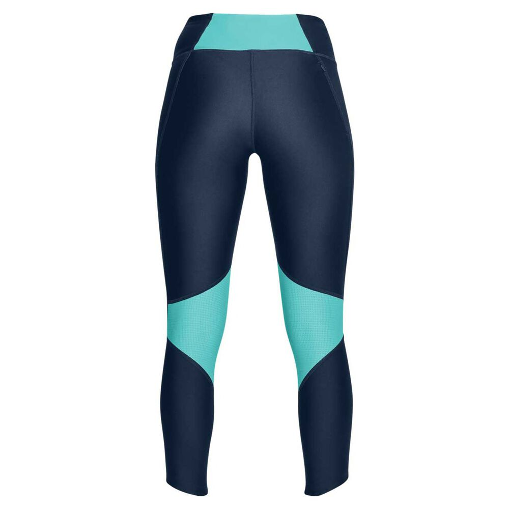 size 40 37ff0 47584 Under Armour Womens Fly Fast Crop Tights Navy M, Navy, rebel hi-res