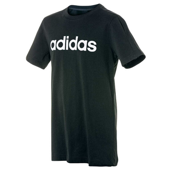adidas Boys Linear Tee, Black, rebel_hi-res