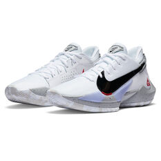 Nike Zoom Freak 2 Mens Basketball Shoes, White/Red, rebel_hi-res