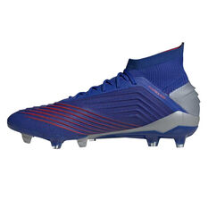 adidas Predator 19.1 Mens Football Boots Blue / Silver US Mens 7.5 / Womens 8.5, Blue / Silver, rebel_hi-res