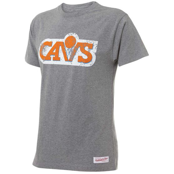Mitchell and Ness Mens Cleveland Cavaliers Distressed Logo Tee, , rebel_hi-res