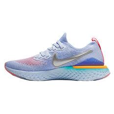 Nike Epic React Flyknit 2 Kids Running Shoes Pink / Grey 4, Pink / Grey, rebel_hi-res