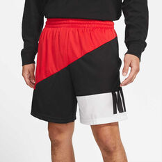 Nike Mens Dri-FIT Basketball Shorts Red S, Red, rebel_hi-res