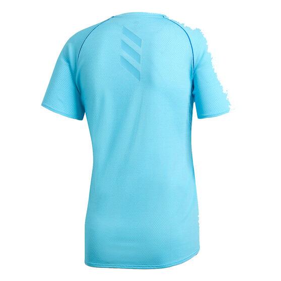 adidas Mens Runner Tee, Blue, rebel_hi-res