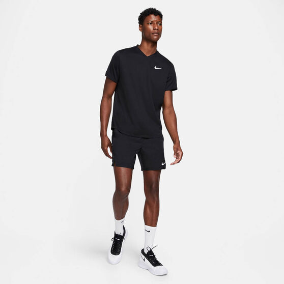 NikeCourt Dri-FIT Victory Men's Tennis Shorts, Black, rebel_hi-res