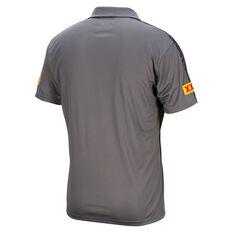 QLD Maroons State of Origin 2021 Mens Team Polo Grey S, Grey, rebel_hi-res